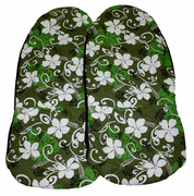 Hawaii car seat cover<br>19 Green leaf<br>(quilted)