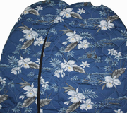 Hawaii car seat cover<br>32 Blue orchids <br> (quilted)