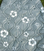 Hawaii car seat cover<br>37 Gray with white flower(Quilted)