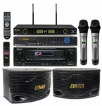 Acesonic BDK-2000 Multi-Format Player with AM-148 320W Amplifier, BMB CSN-500 Speakers & Wireless Mics