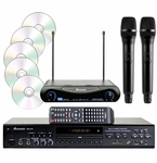 Acesonic DGX-218 HDMI CDG/DVD/MP3G Karaoke Player with UHF-200 Wireless Mics