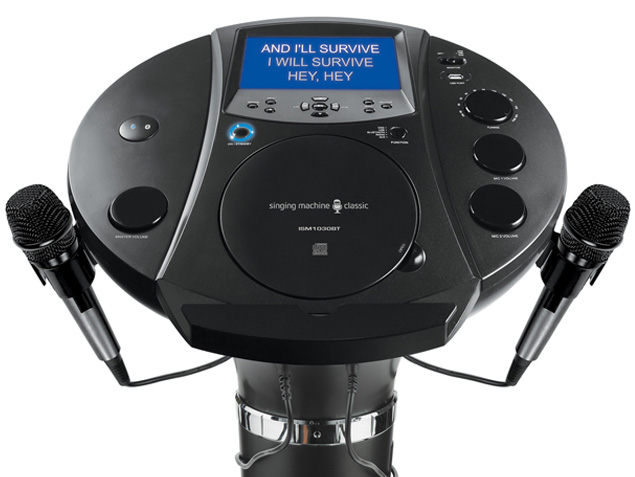singing machine bluetooth pedestal karaoke system