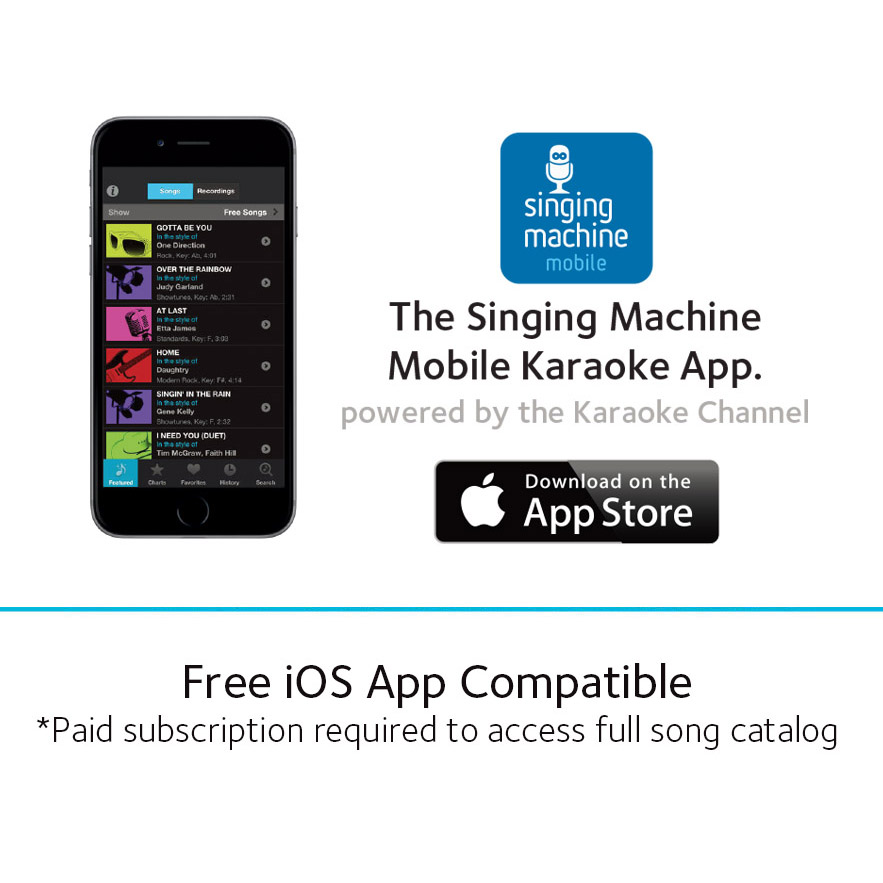 singing machine sml385