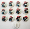 13 Vintage Children's Buttons w/Boy Blowing Bubbles