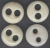 4 Vintage China Underware Buttons