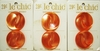 6 Vintage Pearlized Orange Coat Buttons