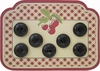 7 Vintage Black Buttons w/Diamond Motif
