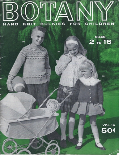 Botany Hand Knit Bulkies For Children 1960
