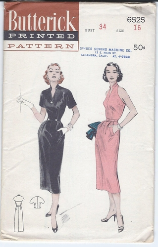 Butterick 6525 Halter Dress w/Short Jacket, Bust 34""