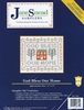 """God Bless Our Home"" Stamped Cross Stitch Sampler Kit"