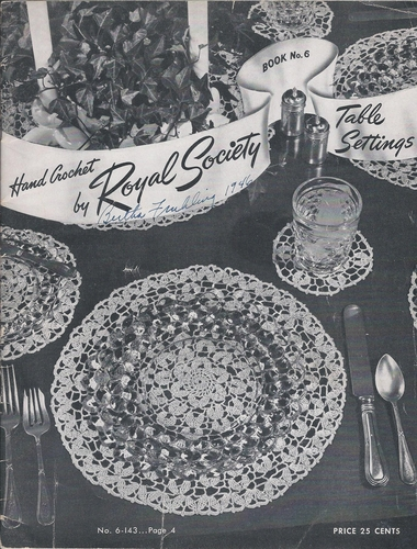 Hand Crochet by Royal Society Table Settings 1946
