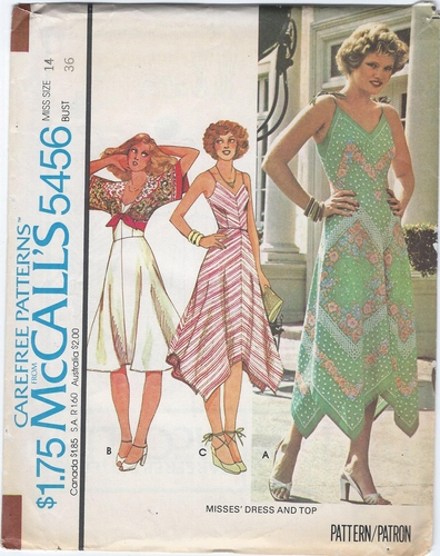 McCall's 5456 Sundress & Top, Bust 36""