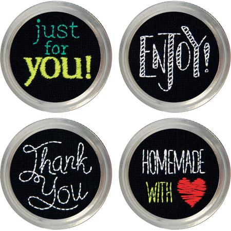"""Dimensions """"Salutations"""" Jar Toppers Embroidery Set"""