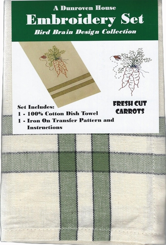 """Dunroven House  """"Fresh Cut Carrots"""" Embroidery Set"""