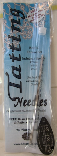 Handy Hands Tatting Thread Needle #7-0, #5-0 #3-0, Plus FREE #8-0