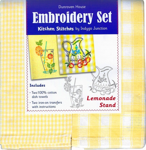 "Dunroven House ""Lemonade Stand"" Embroidery Set"