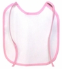Pink Baby Bib To Embroider
