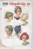 Simplicity 6769 Hats, One Size