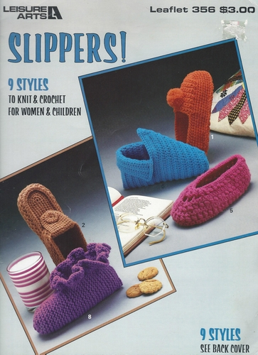 Slippers To Knit & Crochet 1985