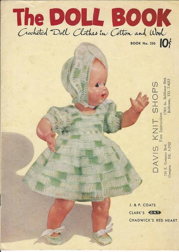The Doll Book, Crocheted Doll Clothes In Cotton & Wool 1951