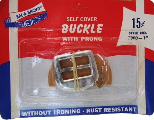 Vintage Bac-A-Belt Self Cover Buckle With Prong