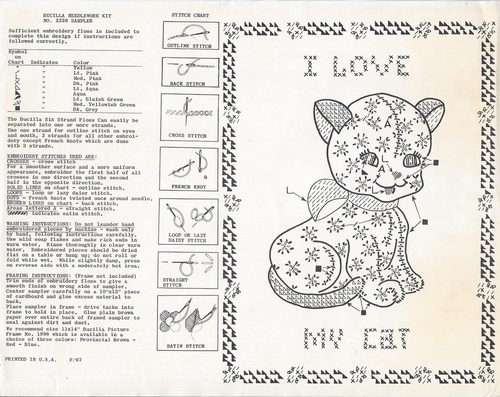 "Vintage Bucilla ""Calico Cat"" Sampler Kit"
