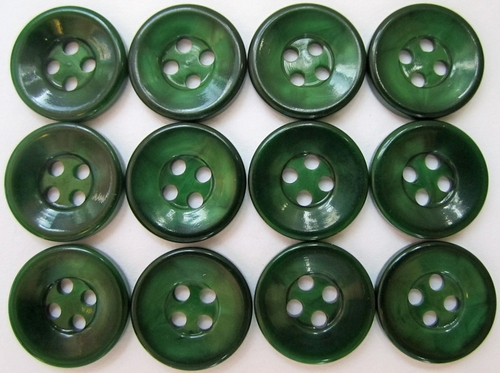 Vintage Green Men's Shirt Buttons per Dozen