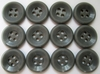 Vintage Grey Men's Shirt Buttons per Dozen