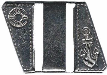 Vintage Metal belt Buckle With Nautical Motif