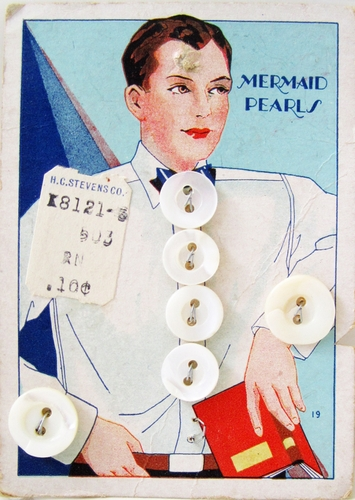 Vintage Mother of Pearl Men's Shirt Buttons