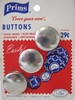 Vintage Prims Cover-Your-Own Buttons 3 Pack