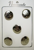 Vintage Silver Tone Buttons w/Musical Note Motif