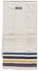 Vintage Striped Linen Tea Towel To Embroider