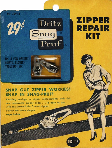 Vintage Zipper Repair Kit