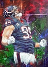 JJ Watt (King of Swat) - Houston Texans fine art print