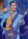 Prince Purple Reign fine art print with limited edition canvas giclee option