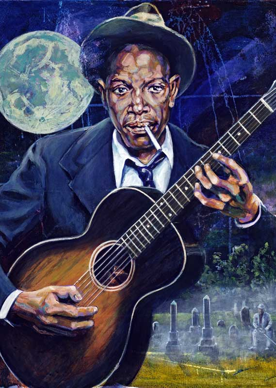 The Legend Of Robert Johnson Fine Art Print By Robert