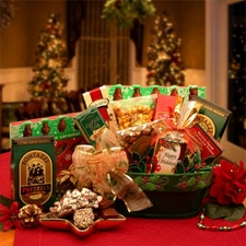A Merry Christmas Greeting Gift Basket - FREE SHIPPING