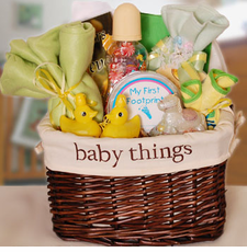 Baby Things Gift Basket (Neutral) - FREE SHIPPING