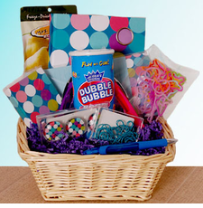 Bubble Gum Stationary Basket - FREE SHIPPING