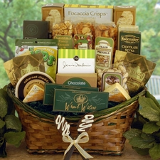 Emeralds and Gold Gift Basket - FREE SHIPPING