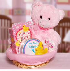 For the Baby Girl Gift Basket - FREE SHIPPING