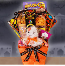 Ghostly Halloween Wishes Gift Basket - FREE SHIPPING