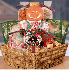 Gingerbread Man Christmas Basket - OUT OF STOCK