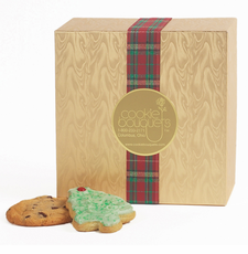 Gold Moire' Christmas Cookie Boxes - FREE SHIPPING