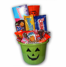 Green Pumpkin Halloween Bucket