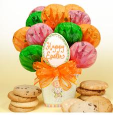 Happy Easter Bunny Cookie Bouquet - FREE SHIPPING
