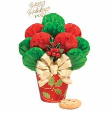 Holly Pot Bouquet - FREE SHIPPING