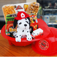 Little Firefighter Gift Basket - FREE SHIPPING