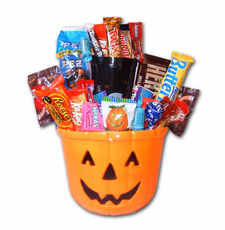 Orange Pumpkin Halloween Pail